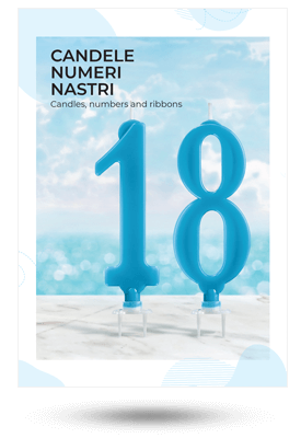 Copertina catalogo candele, numeri e nastri 2018
